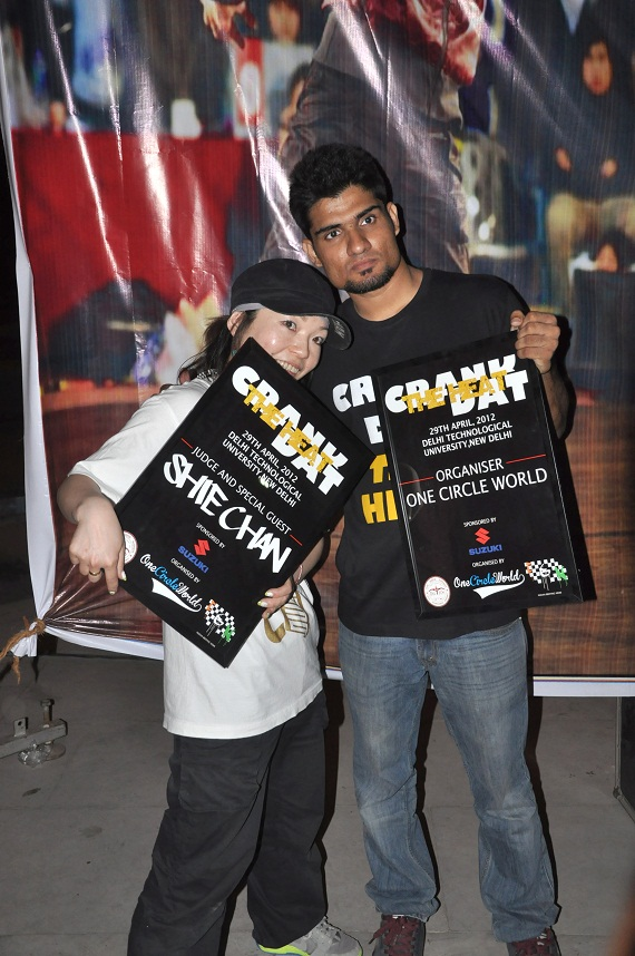 aeke With world champion - Bgirl Shie Chan at Crank Dat 2012