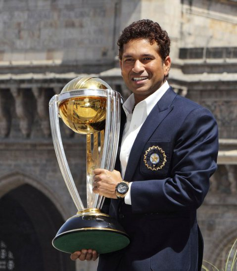 sachin- With his world cup2011