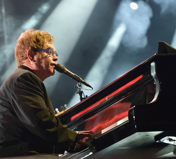 Sir Elton John on piano