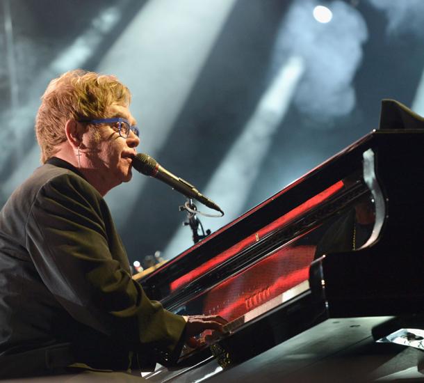 Sir Elton John on piano