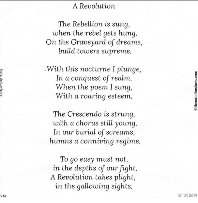 The revolution - Poem